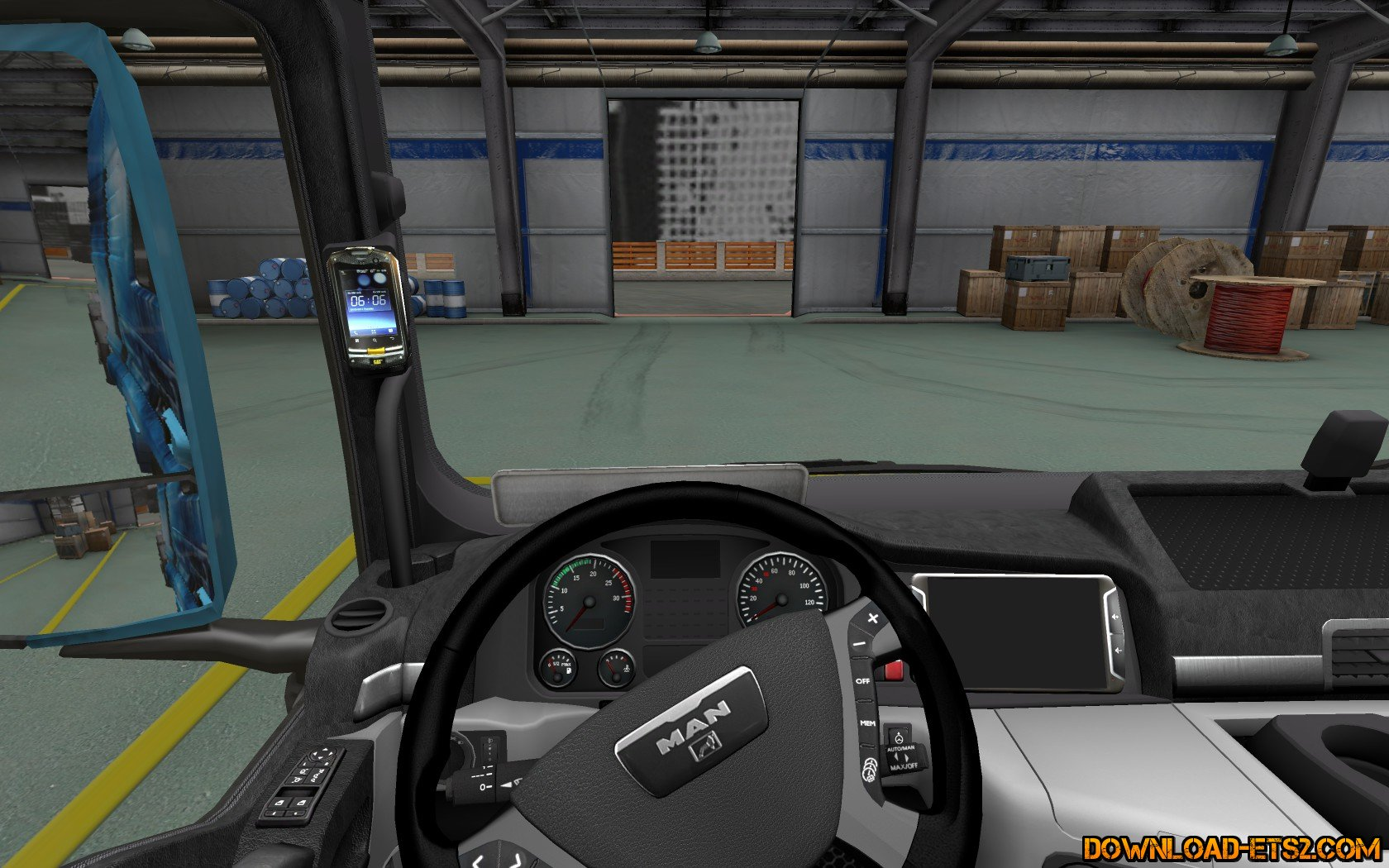 Black-and-white interior for MAN TGX v1.0 by alkonavt96