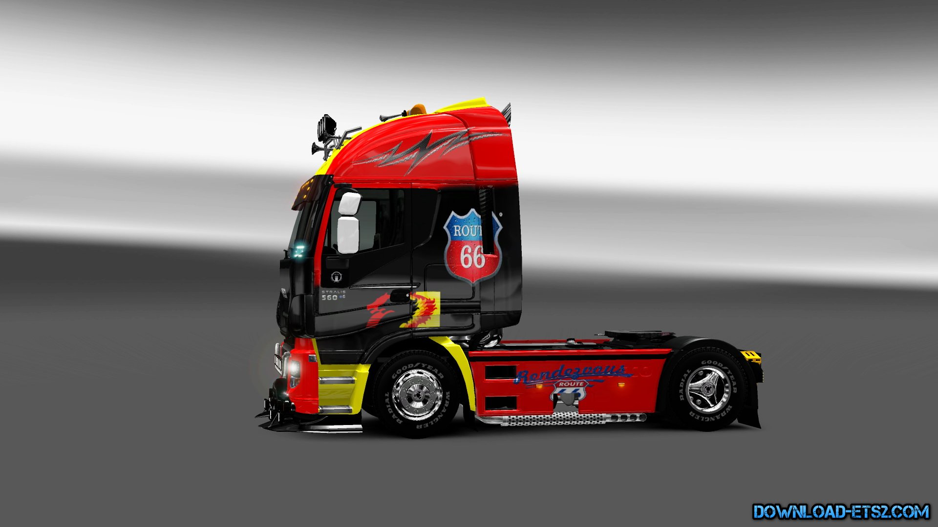 skin iveco hi way route 66 interior ets2 mods euro truck simulator 2 truck mods. Black Bedroom Furniture Sets. Home Design Ideas