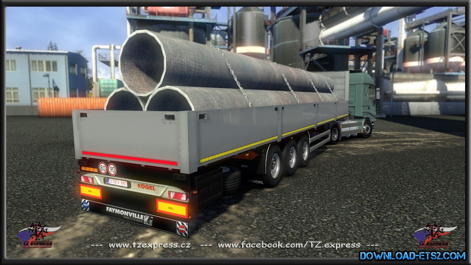 TZ Express Koegel Flatbed for ETS2