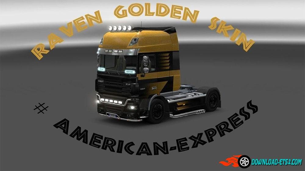 SKIN RAVEN GOLD DAF XL