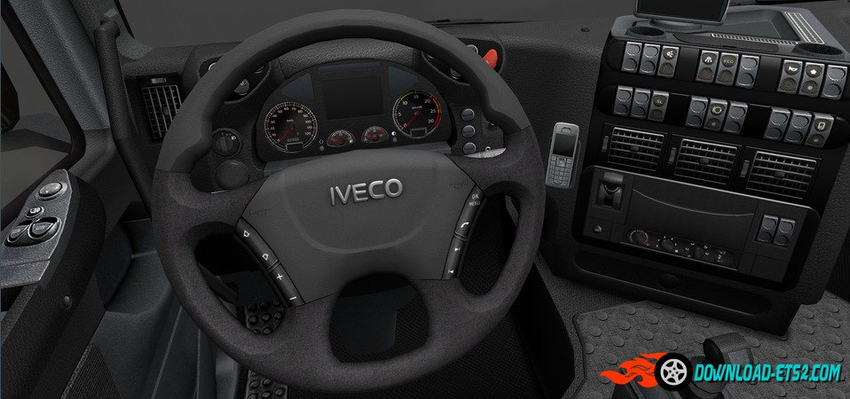 HD GAUGES AND INTERIOR IVECO STRALIS V1.1