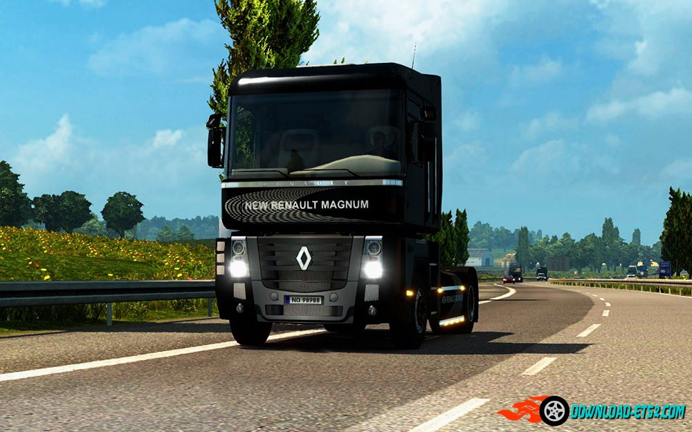 New Renault Magnum Skin + Interior by Piva