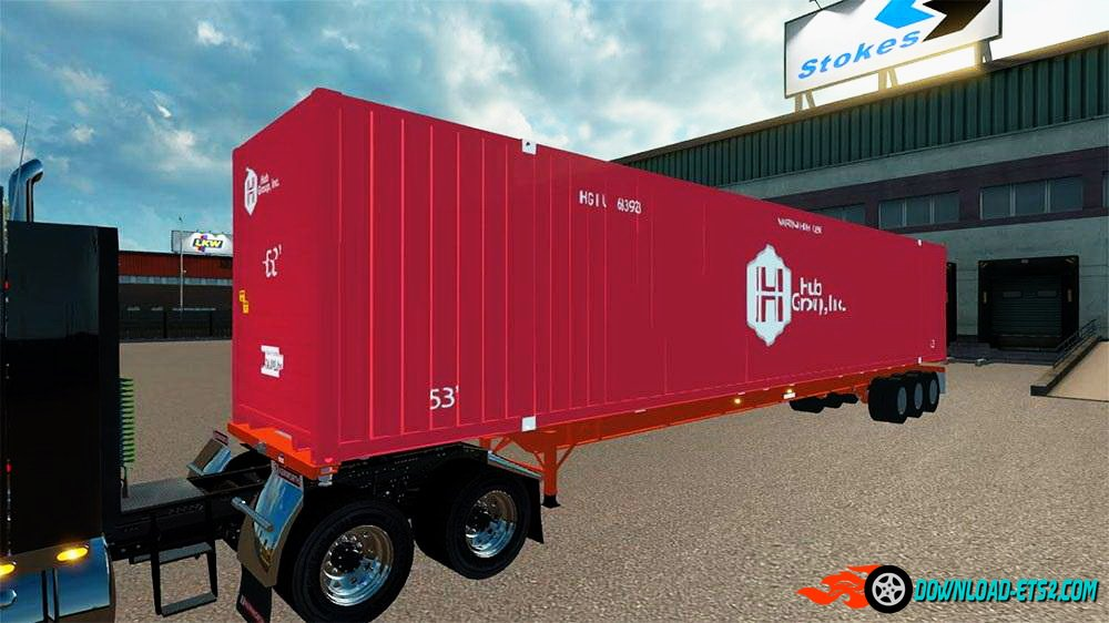 Trailer Chassis Container 53ft v1.1