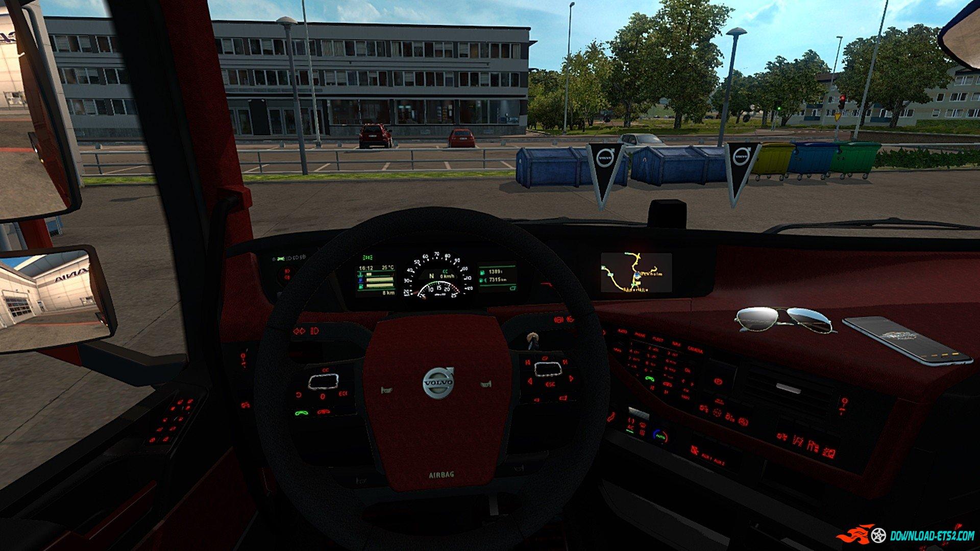Volvo FH 16 2012 Black&Red Interior