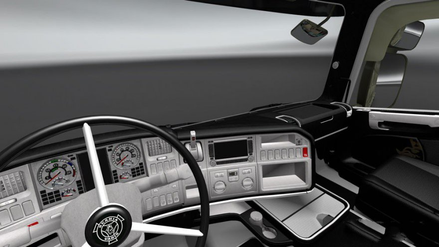 Interior Scania RJL (Black-White)