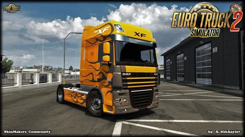 DAF XF105 Paintable for Ets2