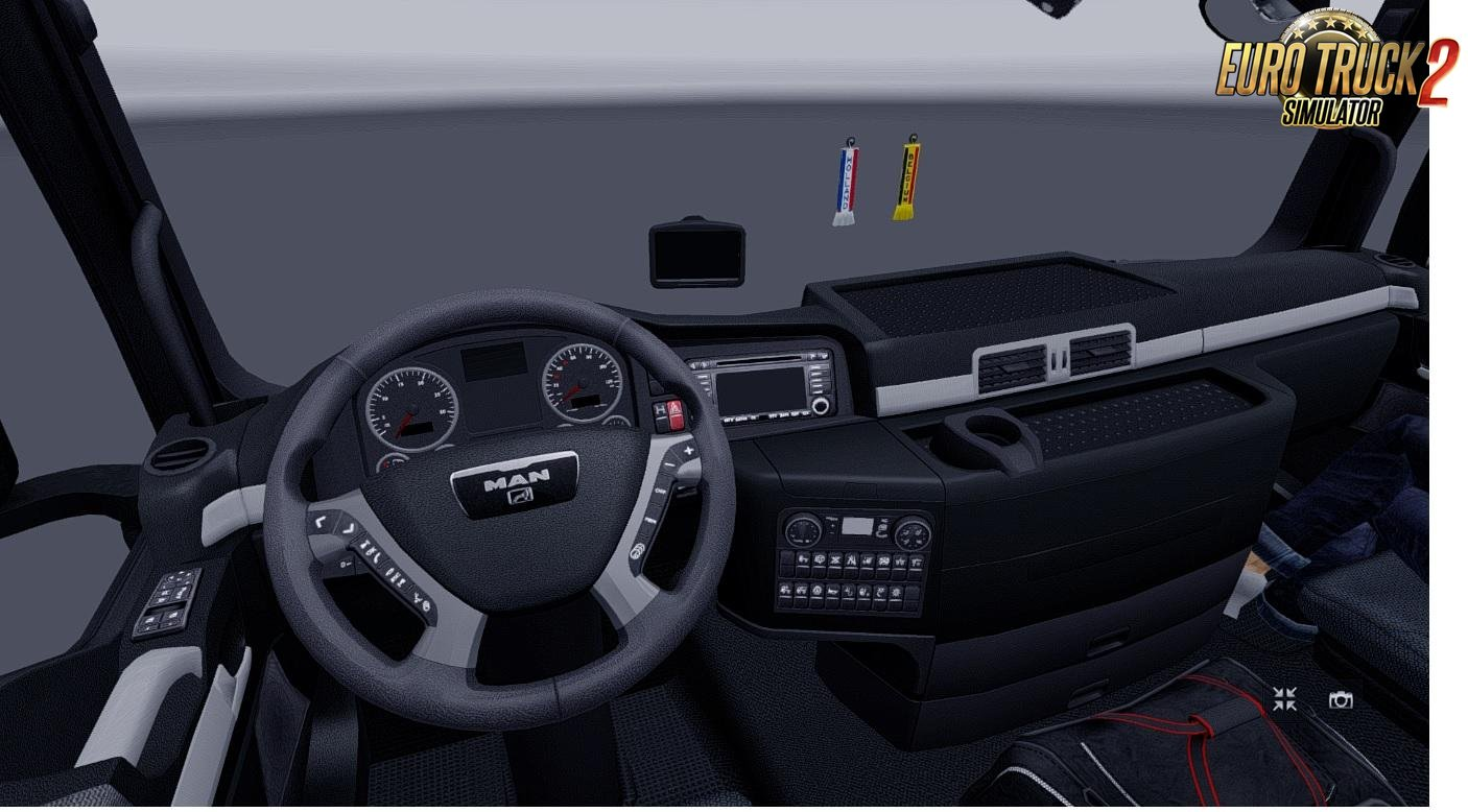 MAN TGX Madster v2.2 Black Interior for Ets2