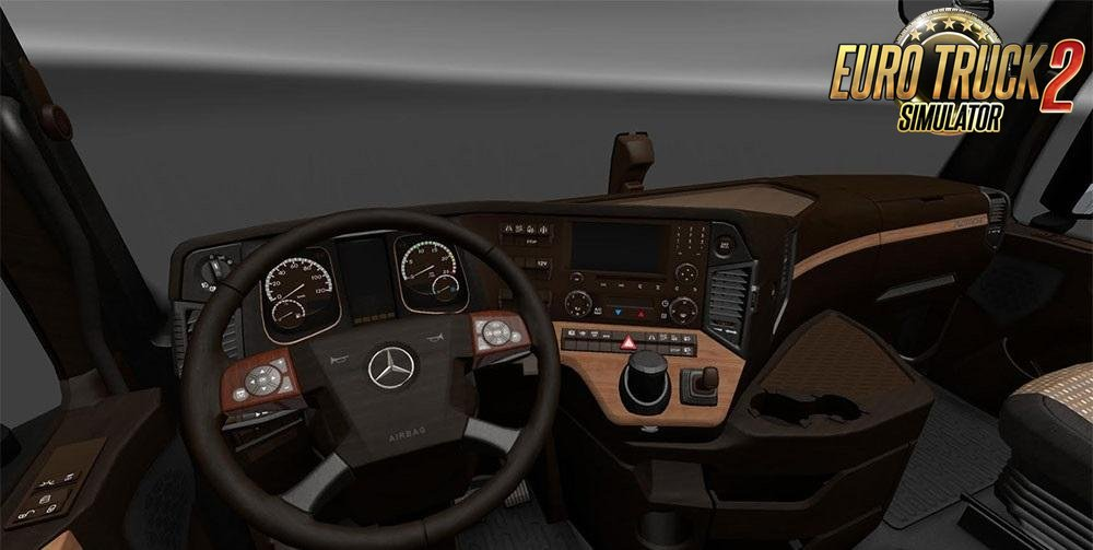 Mercedes Actros MP4 Lux Wood Interior v1.0 (1.25.x)