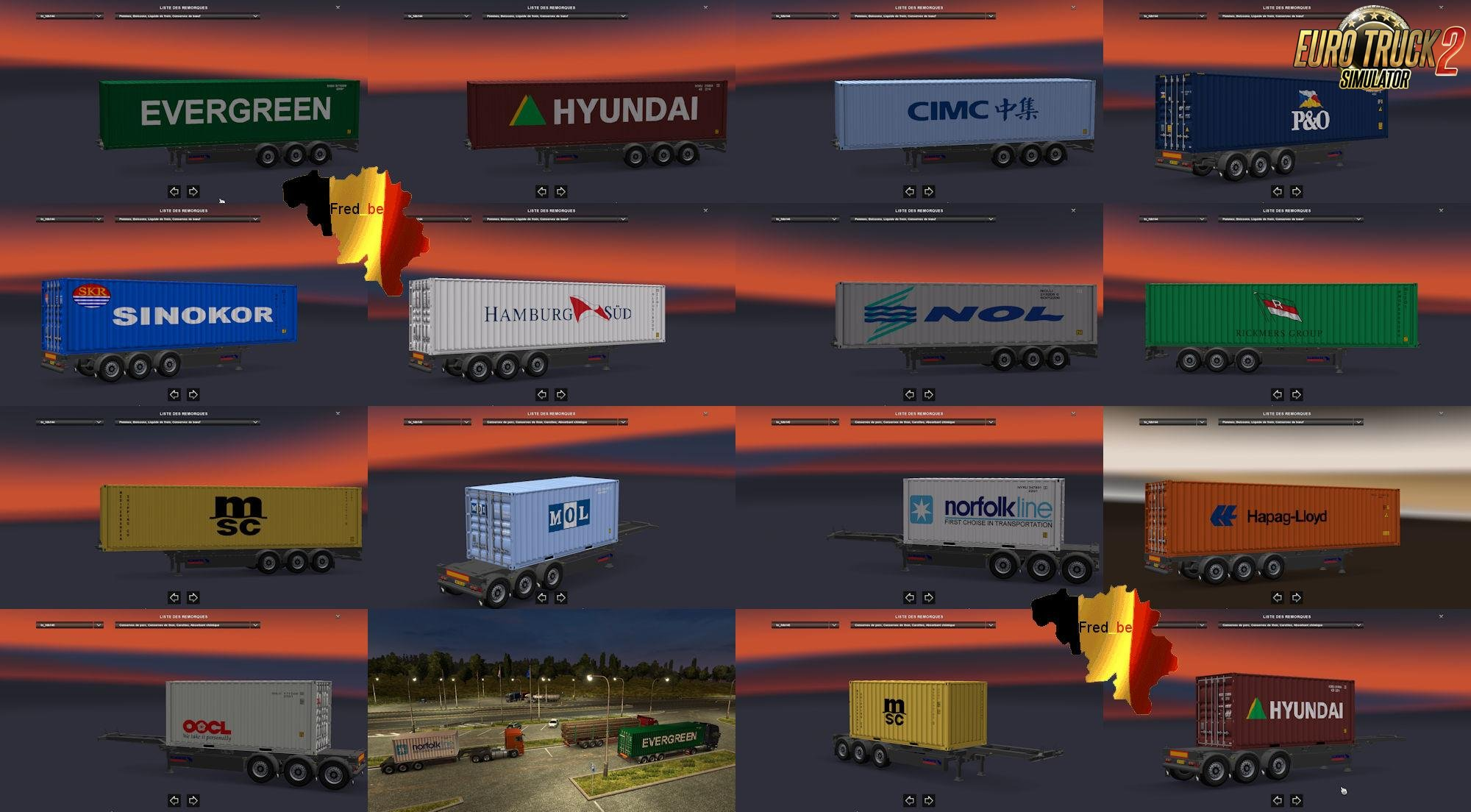 Trailer Pack Container #1 v1.25 for Ets2