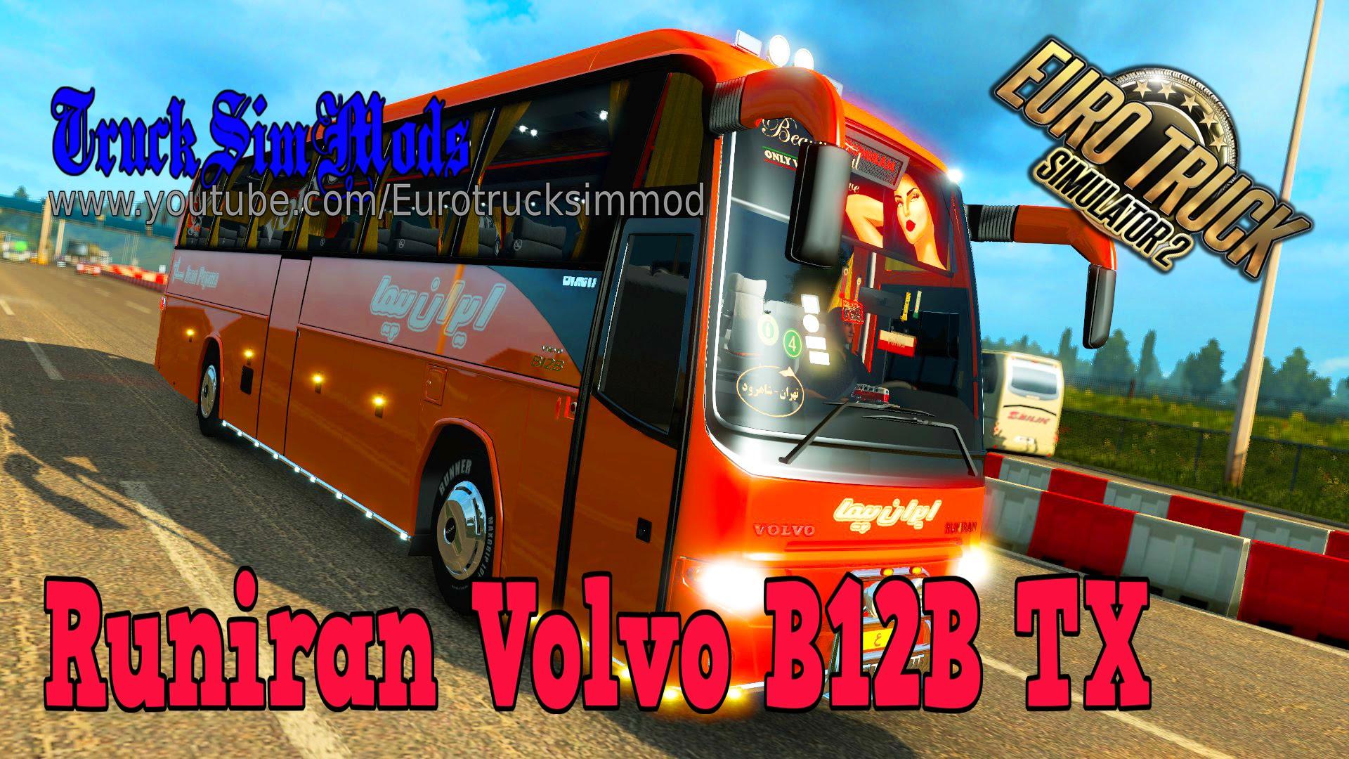Bus Runiran Volvo B12B TX + Passengers Mod v1.0 (1.30.x)