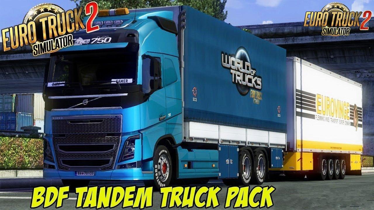 BDF Tandem Truck Pack v107.0 by Flemming V (1.35.x)