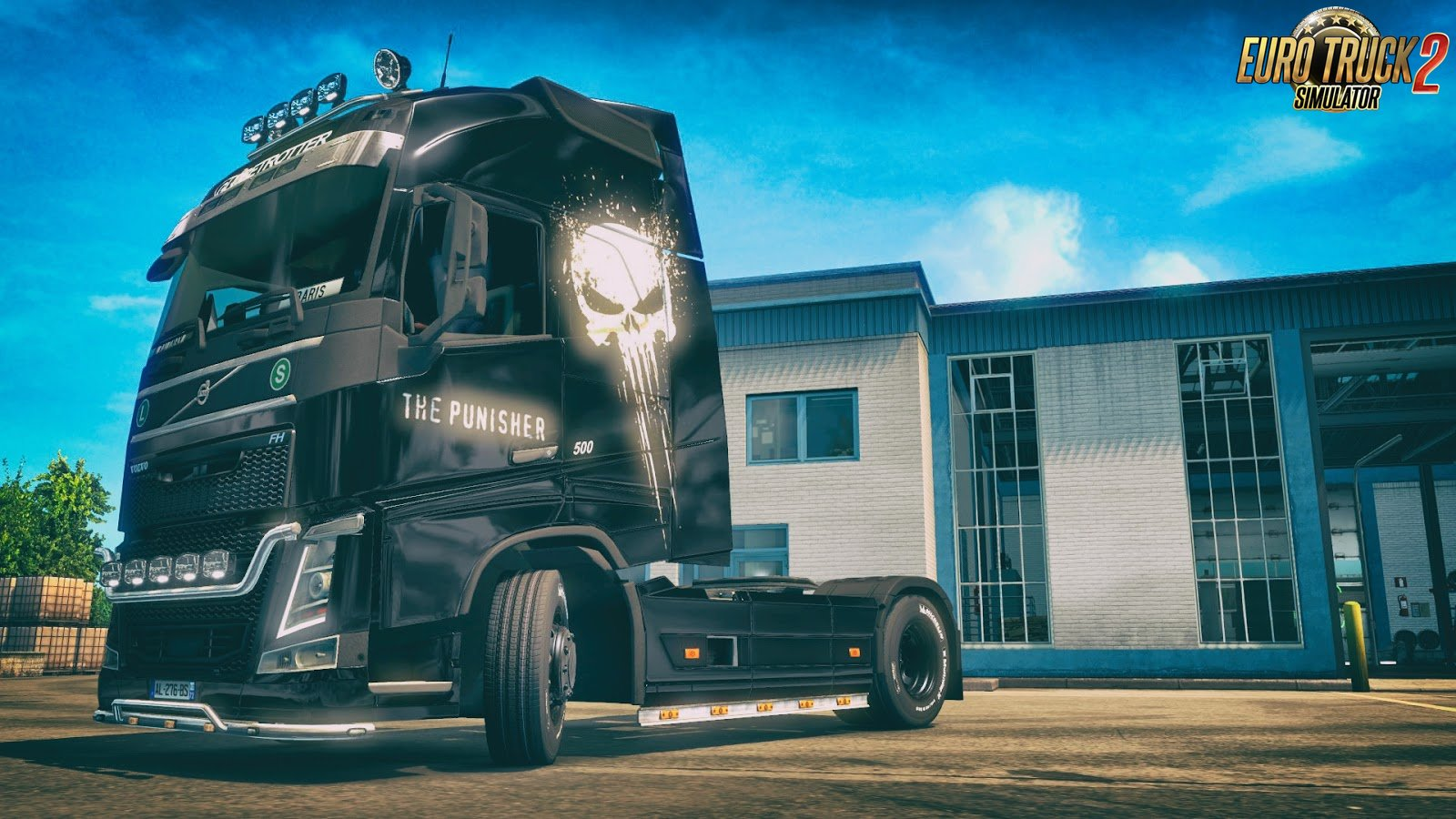 The Punisher Skin for Volvo FH 2012 v1.0 by DafDriver (1.28.x)