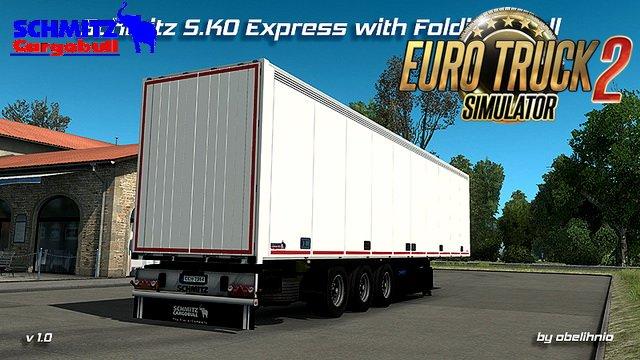 Trailer Schmitz S.KO Express with Folding Wall (Reworked) v1.0 (1.28.x)