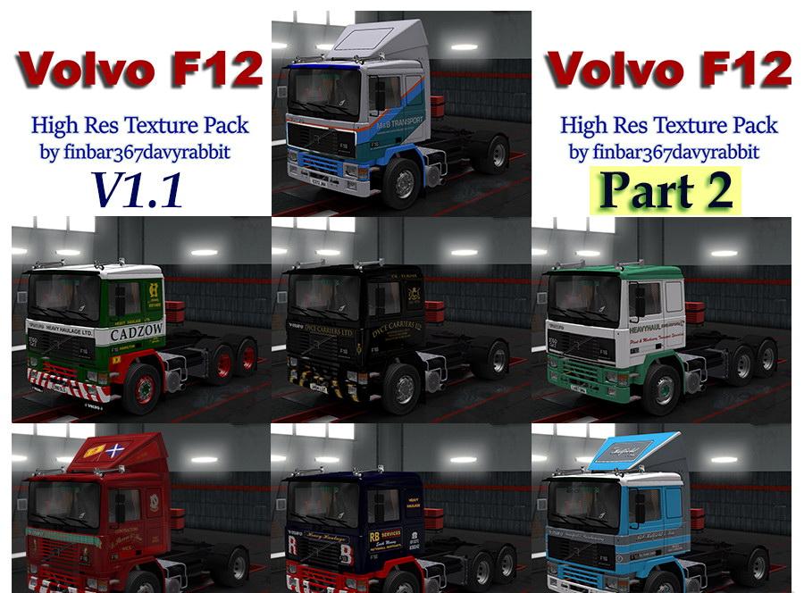 Volvo F12 Skins Pack Part 2 v1.1 (1.28.x)