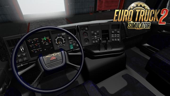 Scania RJL 4 Series Black and Dark Blue Interior for Ets2
