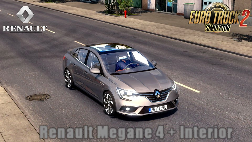 Renault Megane 4 Sedan + Interior v1.0 (1.28.x)