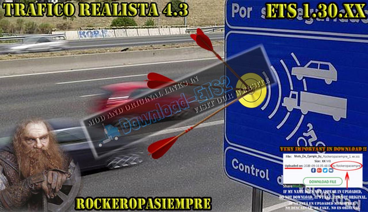 Realistic traffic 4.3 by Rockeropasiempre for V_1.30.XX