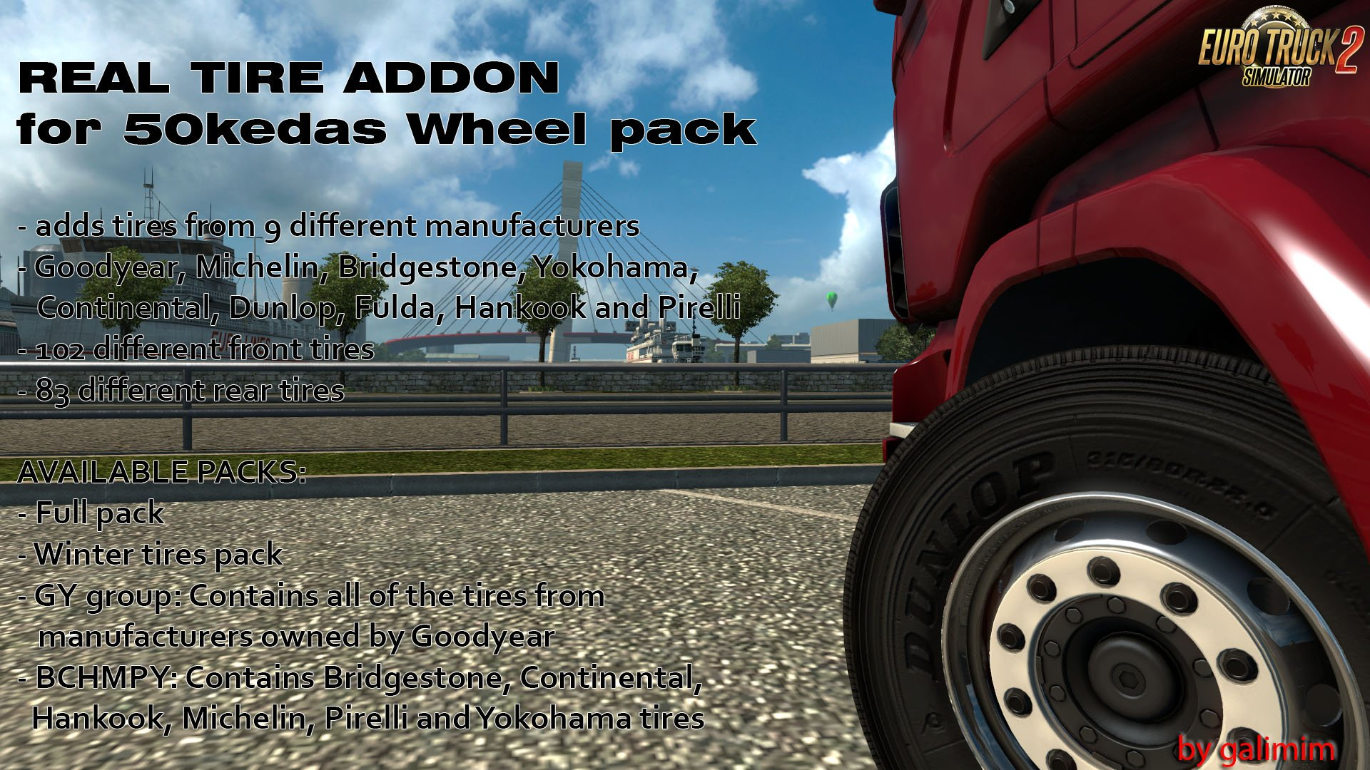 Real Tires Mod v6.3 by galimim [1.35]