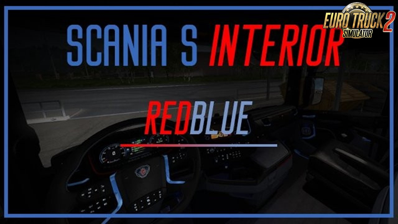 RedBlue interior for Scania S Next Gen