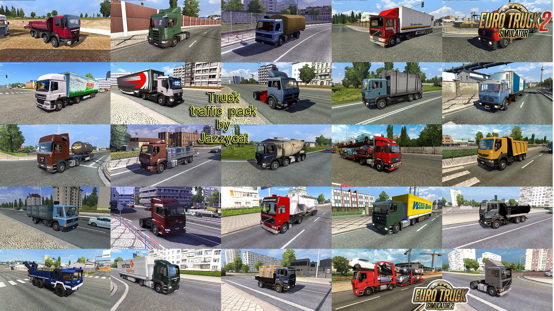 Truck Traffic Pack v4.1.1 by Jazzycat (1.36.x)