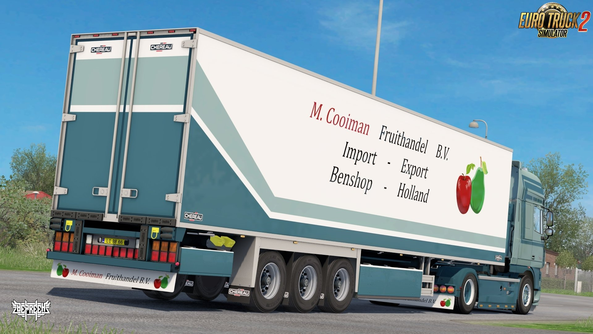 M. Cooiman Combo Pack Skin for DAF XF 105 + Trailer v1.0 by Bepreeh (1.31.x)