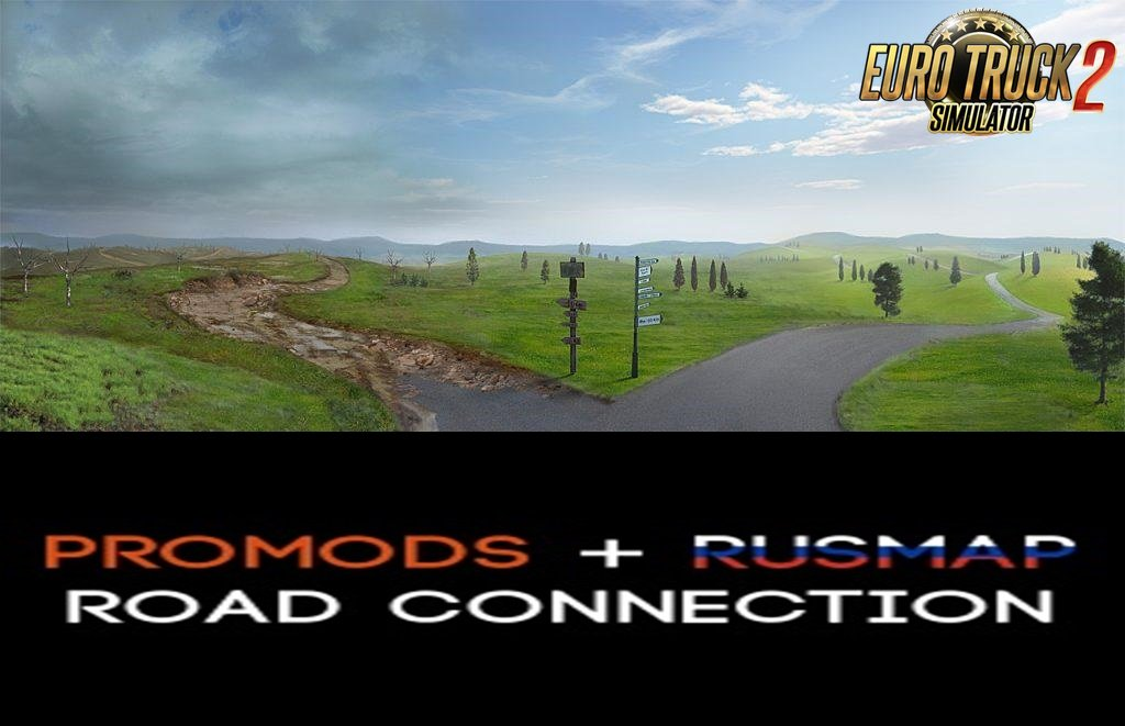 ProMods 2.42 + RusMap 1.9.2 Connection v1.2 (1.35.x+)