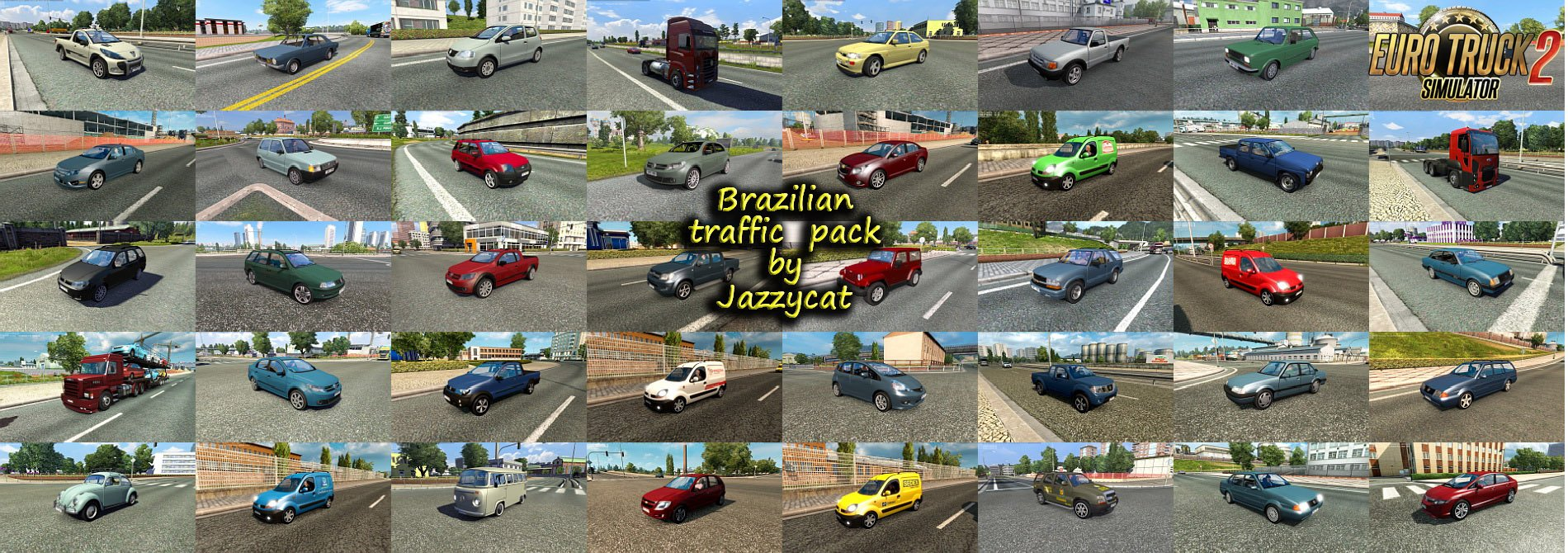 Brazilian Traffic Pack v2.5 by Jazzycat