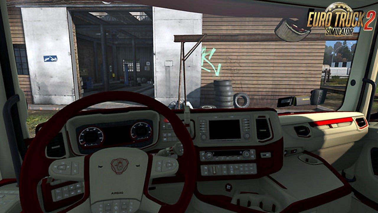 Scania 2016 S&R CMI Red Beige Interior