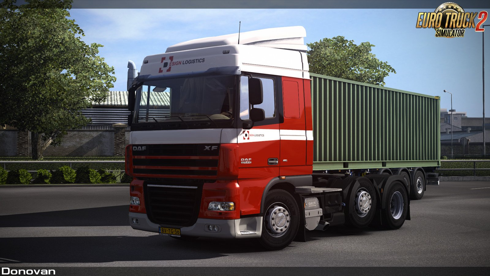 Design Logistics Skin for DAF XF 105 by Vadik [1.32.x]
