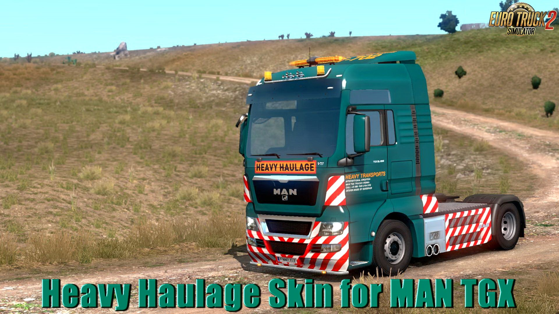 Heavy Haulage Skin for MAN TGX v1.0 (1.33.x)