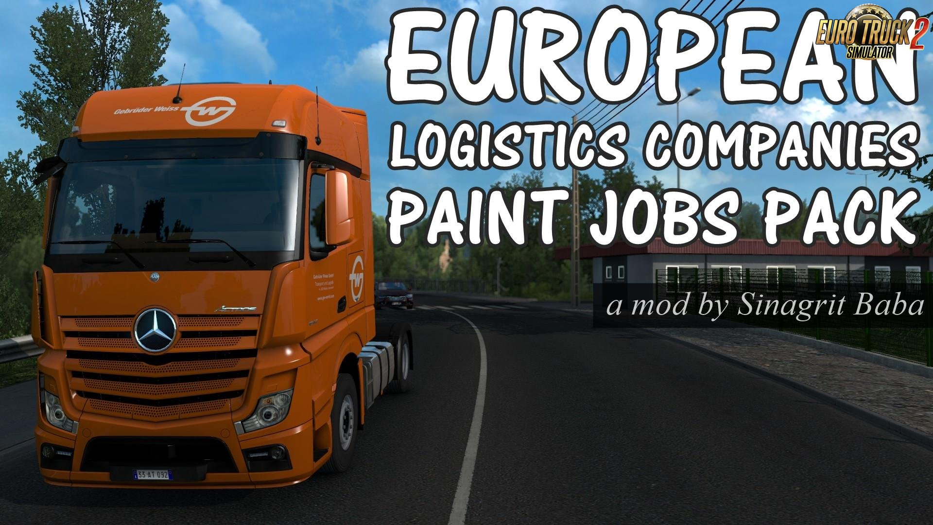 European Logistics Companies Paint Jobs Pack for Ets2