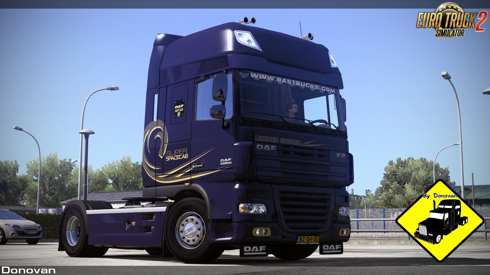 Dark-Blue Limited Edition Skin for DAF XF 105 v1.0 by Donovan (1.33.x)