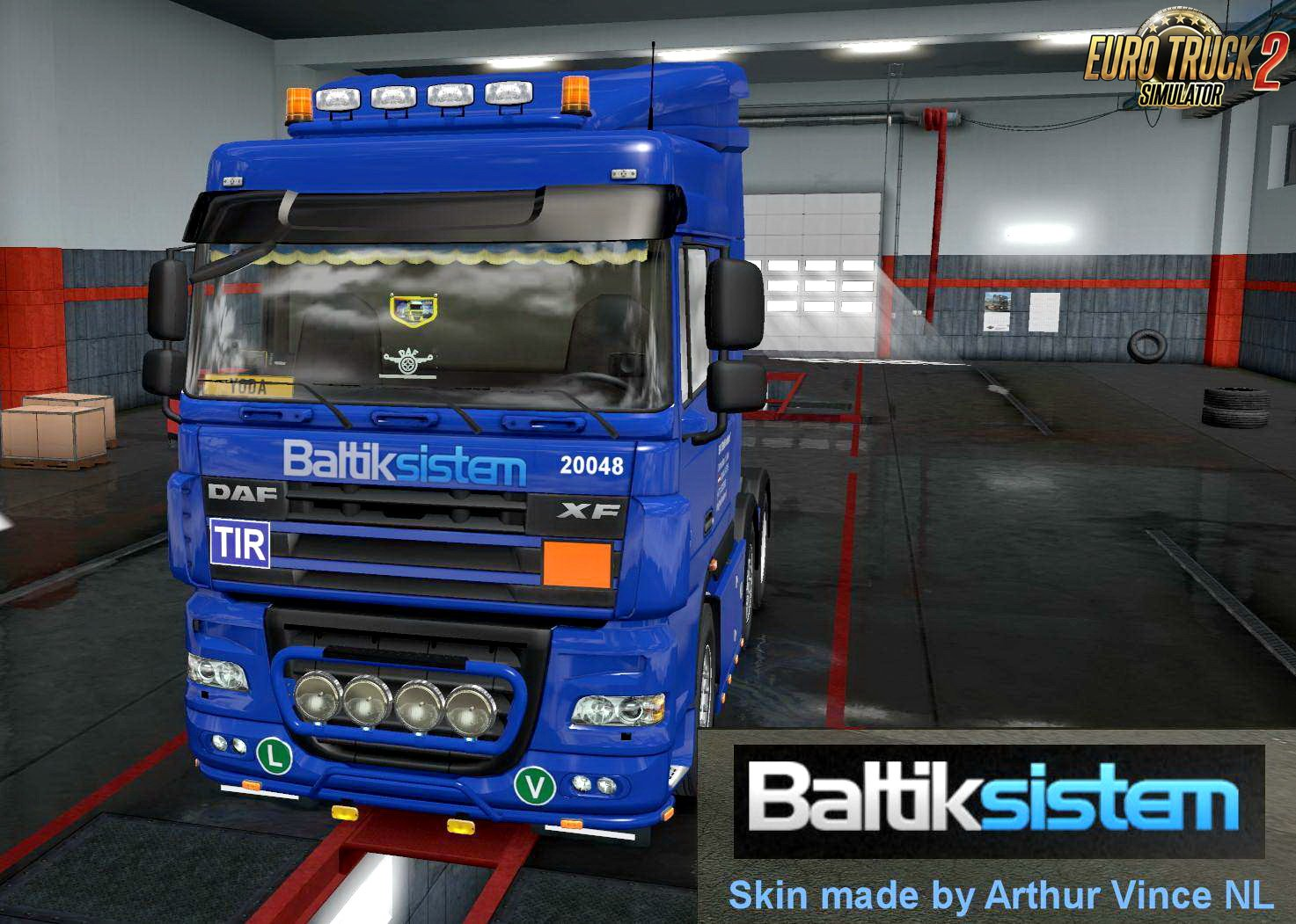 Baltik Sistem Skin for DAF XF 105 v1.2 by Arthur Vince NL (1.33.x)