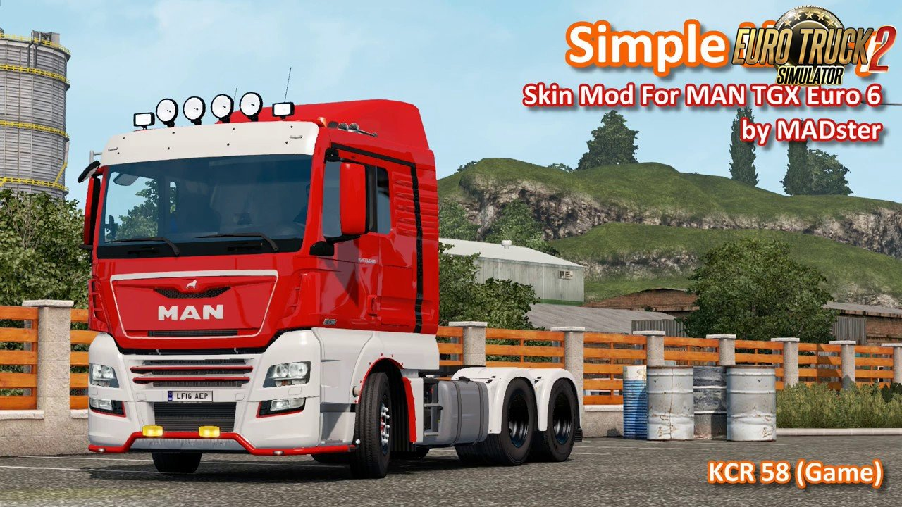 Simple Livery Skin For MAN TGX Euro 6 by MADster v1.0 (1.33.x)