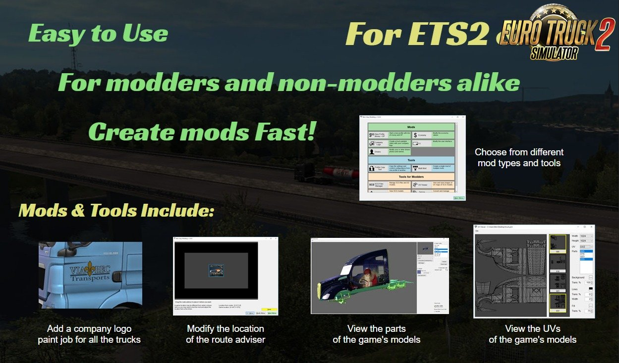 Ben's Easy Modding For Ats and Ets2 games v1.35.1