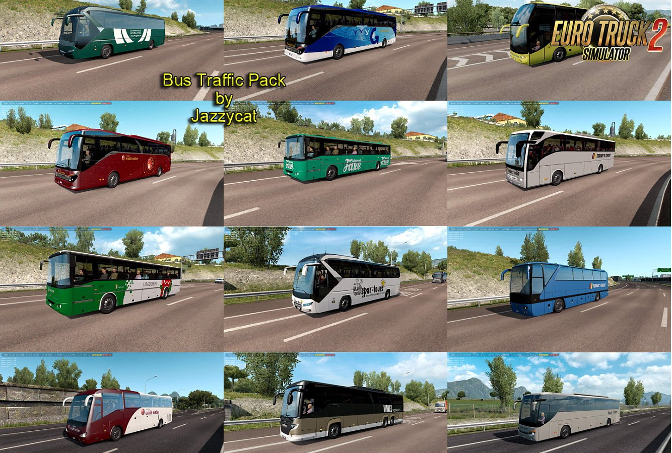 Bus Traffic Pack v6.5 by Jazzycat