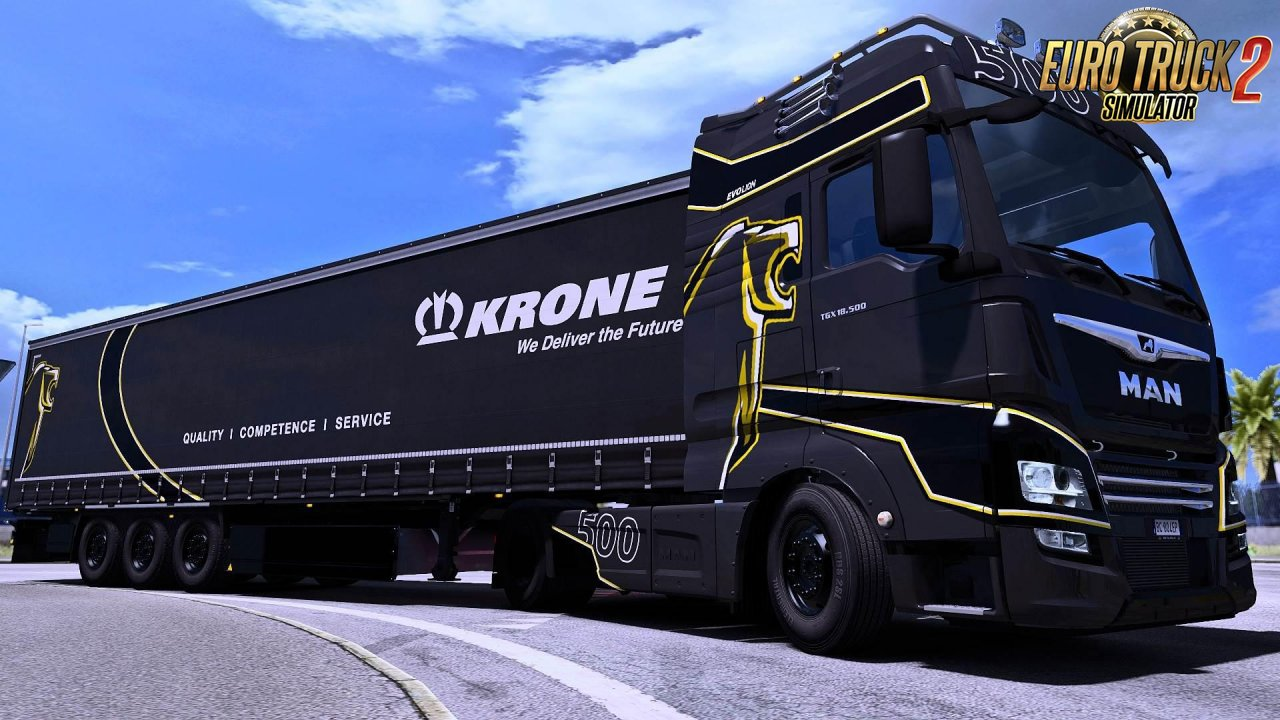 Evo Lion Skin for the MAN TGX Euro 6 by MADster v1.0 (1.35.x)