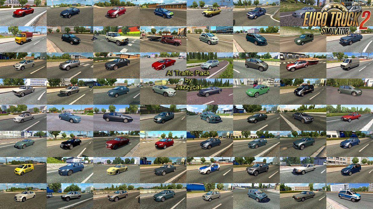 AI Traffic Pack v12.3 by Jazzycat (1.36.x)