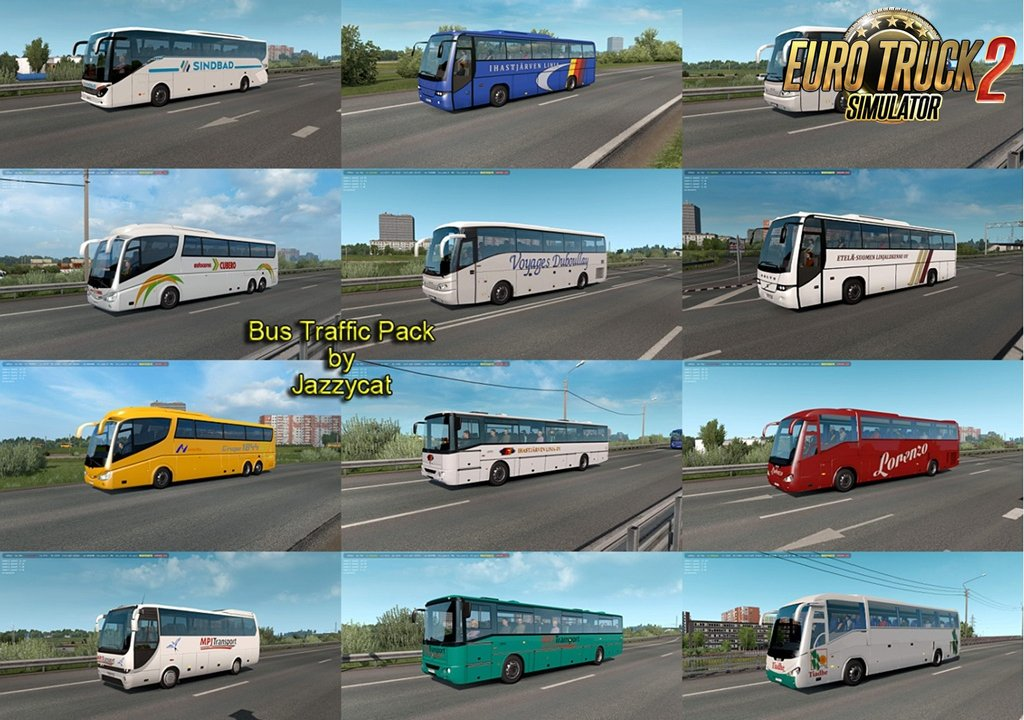 Bus Traffic Pack v7.2 by Jazzycat