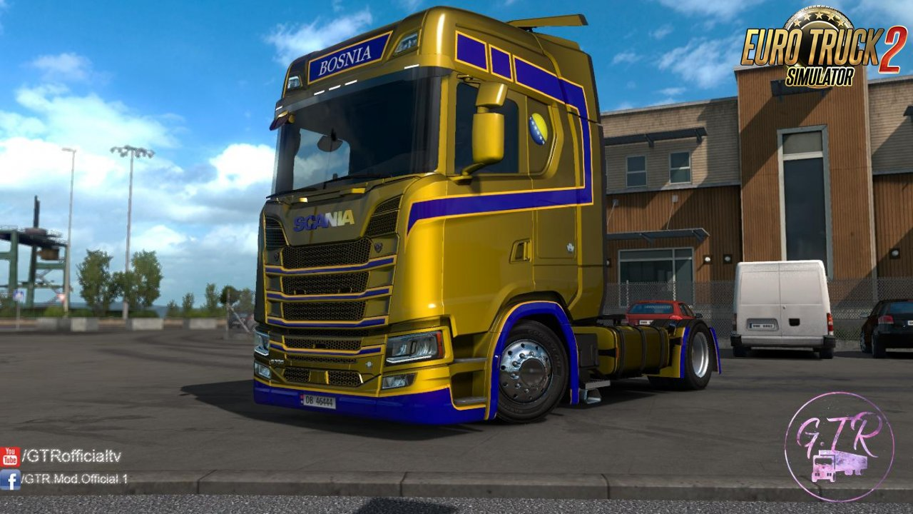 Skin Bosnia for Scania S Next Gen v1.1 by GTR (1.35.x)