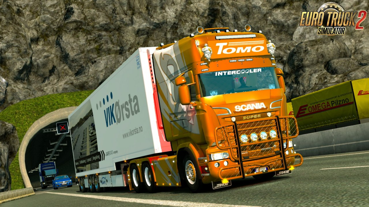 Scania skin Tomo Gold Metallic v1.0