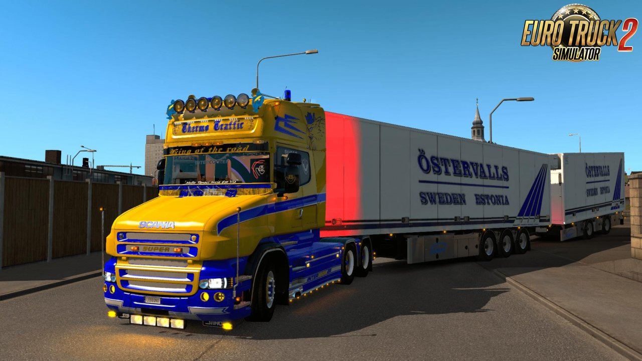 Scania T Yellow & Blue Skin v1.0
