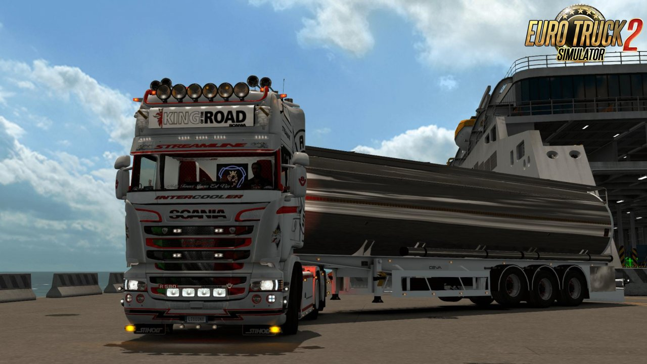 Scania Streamline WhiteRedBlack Skin (1.35.x)