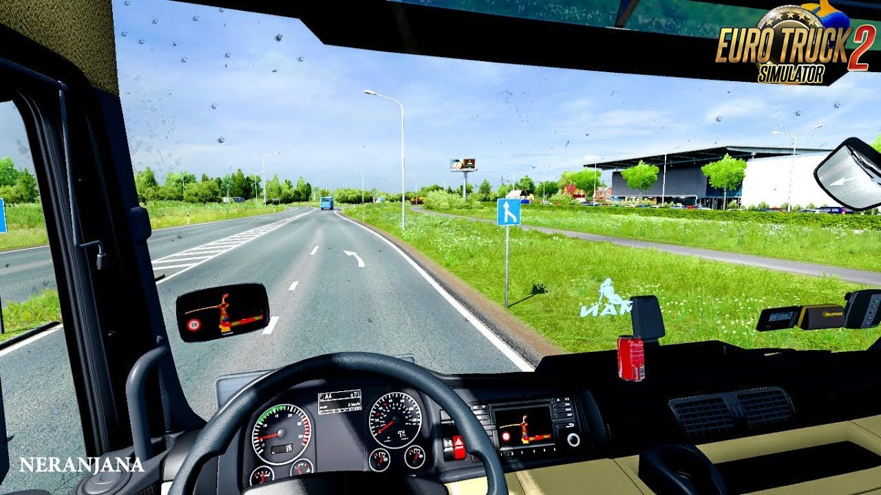 Insects On Windshield Mod (1.35.x) - Euro Truck Simulator 2
