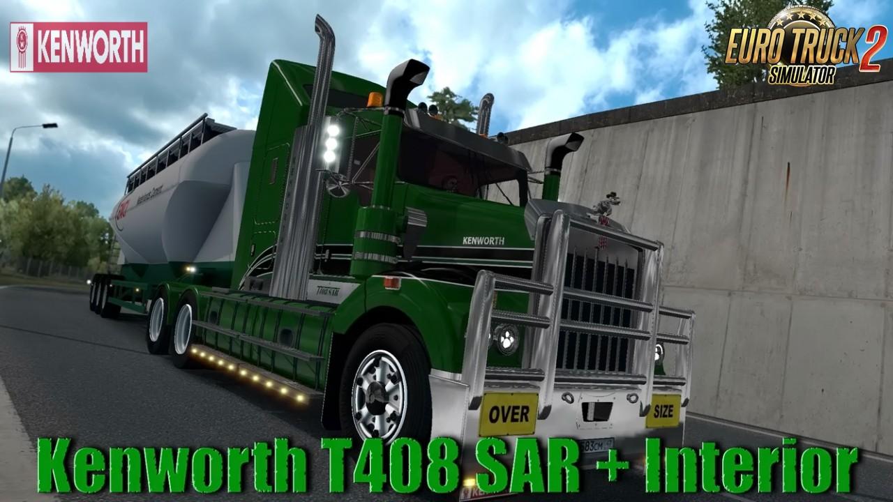 Kenworth T408 SAR + Interior v2.2 (1.35.x)