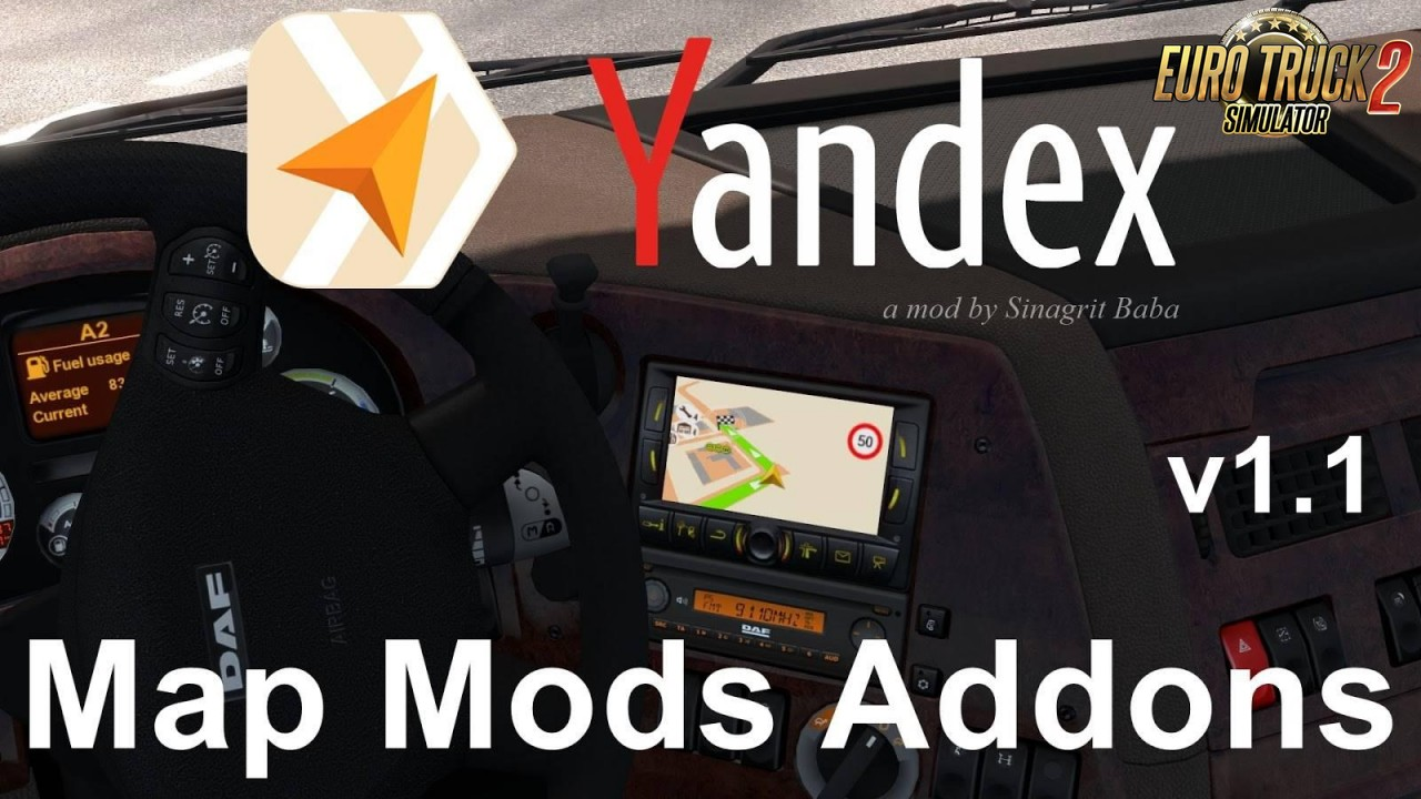 Yandex Navigator Normal & Night Map Mods Addons v1.1 for Ets2