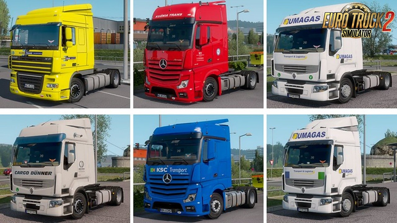 Real Company Truck Skins v1.2 for Ets2