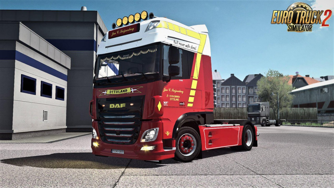Jan C. Swijnenburg skin for DAF XF Euro 6 v1.0 (1.35.x)
