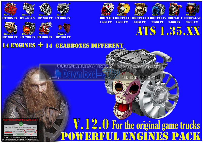 Pack Powerful engines + gearboxes V.12.0 for ATS 1.35.XX