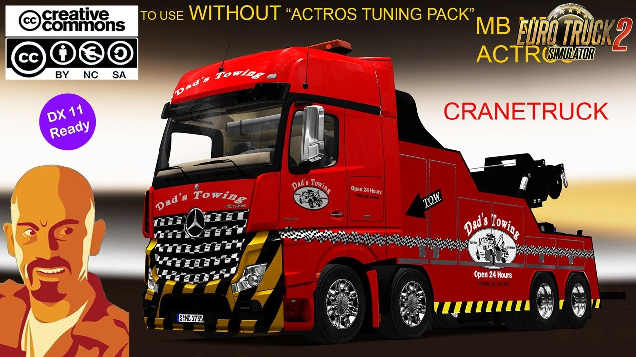 Fixed MB Actros MPIV Cranetruck-No Actros Tunning Pack [1.35.x]